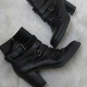 Naturalsoul by naturalizer moto ankle boots sz 8